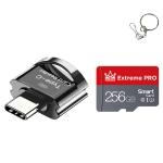 C10 TYPE-C Interface Mobile Phone Memory Card, Capacity: 256GB(Black)