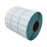 Three-Proof Thermal Paper Three-Row Bar Code Non-Adhesive Printing Paper, Size: 30 x 25mm (5000 Pieces)