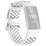 2 PCS 3D Diamond Hollow Type Replacement Silicone Strap For Fitbit Charge4/3 Smart Watch, Colour: White S Yards