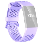 2 PCS 3D Diamond Hollow Type Replacement Silicone Strap For Fitbit Charge4/3 Smart Watch, Colour: Lavender L Yards