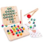 Wooden Clip Beads Toy Children Chopsticks Training Toys, Colour: XHN-Bead (Square)
