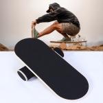 Surfing Ski Balance Board Roller Wooden Yoga Board, Specification: 04A Black Sand