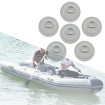 6 In 1 Canoe Kayak PVC Patch + D Ring Buckle + Elastic Rope + Paddle Rope Set(Light Grey)