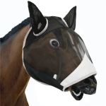 MTP-636 Breathable And Comfortable Outdoor Anti-Mosquito Horse Mask Detachable Horse Face Mask, Size: L(Black Gray)