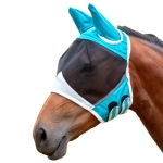Elastic Breathable Horse Mask Anti-Mosquito And Insect-Proof Cover, Specification: L:80x114x45cm(Blue)