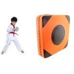 Two-color Imitation Leather Square Thickened Boxing Training Wall Target, Specification: 40x40x10 (Magic Stickers)(Orange Black)