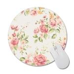 3 PCS Round Rose Flower Rubber Cloth Mouse Pad Heat Transfer Non-Slip Mouse Pad, Size: 22 x 22cm(Rose 4)