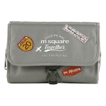 Msquare Travel Suit Toiletry Bag Cosmetic Storage Bag, Colour: Three-fold Gray