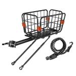 WEST BIKING YP0712030 Bicycle Aluminum Alloy Rack Cart Basket Mountain Bike Back Seat With Basket(Black)