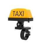 Motorcycle Modified Personality Taxi Motor Light Electric Car Helmet Decorative Warning Light, Specification: Normally Bright(Yellow)