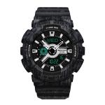 SANDA Three-Pin Luminous Outdoor Waterproof Multifunctional Couple Electronic Watch(Women Line Black)