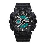 SANDA Three-Pin Luminous Outdoor Waterproof Multifunctional Couple Electronic Watch(Men Line Black)