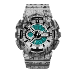 SANDA Three-Pin Luminous Outdoor Waterproof Multifunctional Couple Electronic Watch(Men Line Gray)