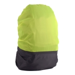 2 PCS Outdoor Mountaineering Color Matching Luminous Backpack Rain Cover, Size: S 18-30L(Gray + Fluorescent Green)