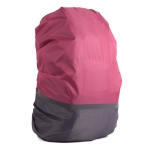 2 PCS Outdoor Mountaineering Color Matching Luminous Backpack Rain Cover, Size: L 45-55L(Gray + Pink)