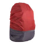 2 PCS Outdoor Mountaineering Color Matching Luminous Backpack Rain Cover, Size: L 45-55L(Gray + Red)