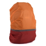 2 PCS Outdoor Mountaineering Color Matching Luminous Backpack Rain Cover, Size: L 45-55L(Red + Orange)