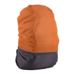 2 PCS Outdoor Mountaineering Color Matching Luminous Backpack Rain Cover, Size: XL 58-70L(Gray + Orange)