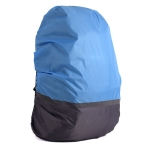 2 PCS Outdoor Mountaineering Color Matching Luminous Backpack Rain Cover, Size: XL 58-70L(Gray + Blue)