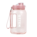 OTTEN 01 Large-Capacity Plastic Water Cup Outdoor Cycling Sports Fitness Kettle, Capacity: 1.5L(Pink)