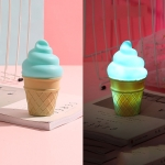 3 PCS Cartoon Ice Cream Night Light Children Room LED Light(Blue)
