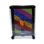 Colorful Handprint Needle Painting 3D Stereo Hand Makrolon Needle, Size: Medium 17.5 x 12.5cm(Black Frame)