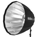 Godox P120L Diameter 120cm Parabolic Softbox Reflector Diffuser for Studio Speedlite Flash Softbox(Black)