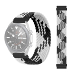 22mm Universal Nylon Weave Replacement Strap Watchband (Black White)