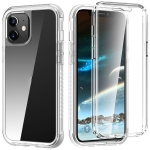 C1 2 in 1 Shockproof TPU + PC Protective Case with PET Screen Protector For iPhone 12 mini(Transparent Matte)