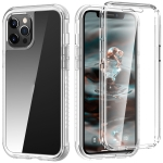 C1 2 in 1 Shockproof TPU + PC Protective Case with PET Screen Protector For iPhone 12 / 12 Pro(Transparent Matte)