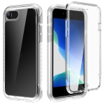 C1 2 in 1 Shockproof TPU + PC Protective Case with PET Screen Protector For iPhone SE 2020 / 8 / 7(Transparent Matte)