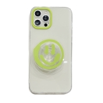 Graffiti Smiley Holder Shockproof TPU Protective Case For iPhone 12 / 12 Pro(Green)