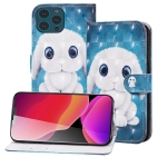 3D Painted Pattern Horizontal Flip Leather Case with Holder & Wallet & Card slot & Lanyard For iPhone 13 Pro(Rabbit)