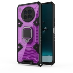 For Huawei nova 8i Space PC+TPU Shockproof Case with Ring Holder(Purple)