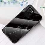 For Xiaomi Poco X3 GT Marble Pattern Glass + TPU Protective Case(Black)