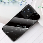 For Xiaomi Mi Mix 4 Marble Pattern Glass + TPU Protective Case(Black)