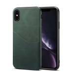 Skin Feel PU + TPU Protective Case with Card Slot For iPhone XS Max(Green)