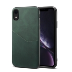 Skin Feel PU + TPU Protective Case with Card Slot For iPhone XR(Green)