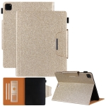 Glitter Powder Horizontal Flip Leather Case with Holder & Card Slot & Photo Frame & Wallet For iPad Pro 12.9 2021 / 2020 / 2018(Gold)