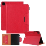 Solid Color Horizontal Flip Leather Case with Holder & Card Slot & Photo Frame & Wallet For iPad Pro 12.9 2021 / 2020 / 2018(Red)