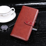 For Doogee N40 Pro idewei Crocodile Texture Horizontal Flip Leather Case with Holder & Card Slots & Wallet(Red)