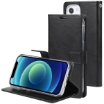 GOOSPERY BLUE MOON Crazy Horse Texture Horizontal Flip Leather Case with Holder & Card Slot & Wallet For iPhone 13 mini(Black)