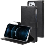 GOOSPERY BLUE MOON Crazy Horse Texture Horizontal Flip Leather Case with Holder & Card Slot & Wallet For iPhone 13 Pro Max(Black)