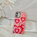 Thickened TPU Shockproof Protective Case For iPhone 12 Pro Max(Pink Red Love)