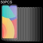 For Alcatel 1S 2021 50 PCS 0.26mm 9H 2.5D Tempered Glass Film