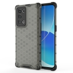 For OPPO Reno6 Pro+ 5G Shockproof Honeycomb PC + TPU Protective Case(Black)
