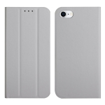 3-Folding Ultrathin Skin Feel Magnetic Solid Color Horizontal Flip Leather Case with Holder For iPhone SE 2020 / 7 / 8(Grey)
