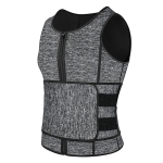 Neoprene Men Sport Body Shapers Vest Waist Body Shaping Corset, Size:XXXL(Grey)