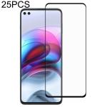For Motorola Edge S 25 PCS Full Glue Full Screen Tempered Glass Film