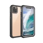 Waterproof Dustproof Shockproof Transparent Acrylic Protective Case For iPhone 11 Pro(Black)